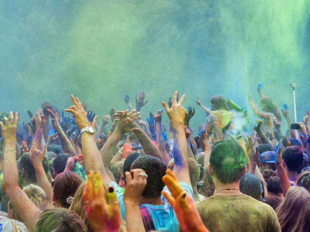 The Spanish Fork Holi gathering is the largest in the world (including India)