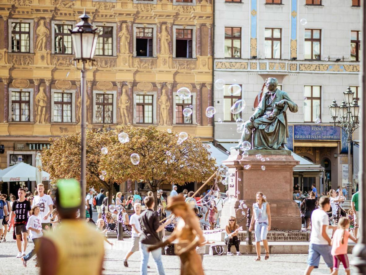 Start a tour of Wroclaw's hidden gnomes, starting in the 13th-century Market Square