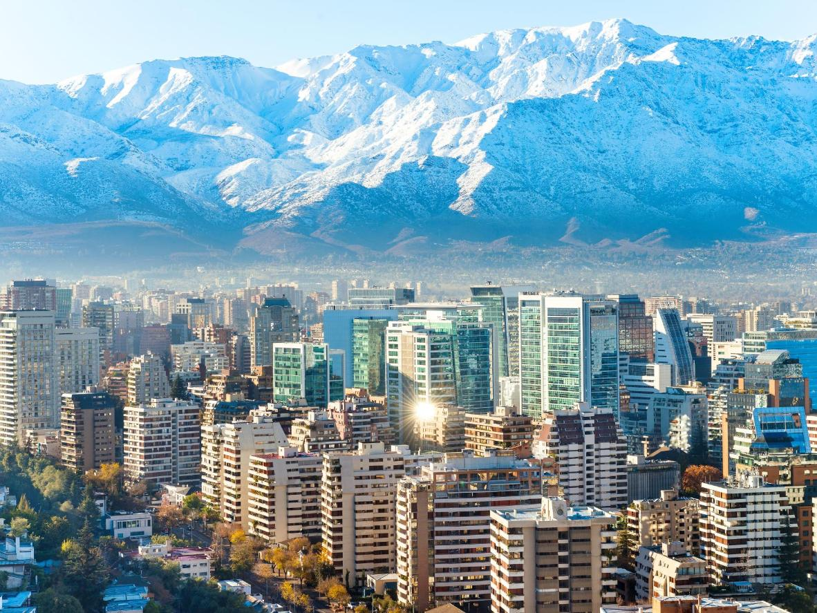 Santiago and the Andes