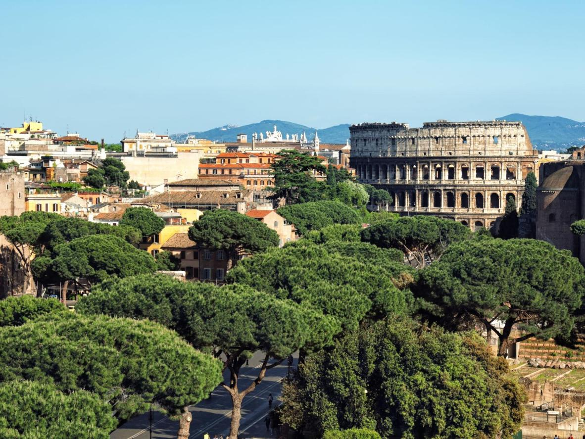 The Colosseum in the Tiburtino district
