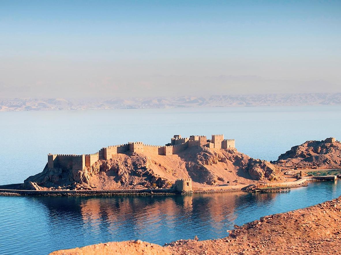 Isla del faraón en Taba