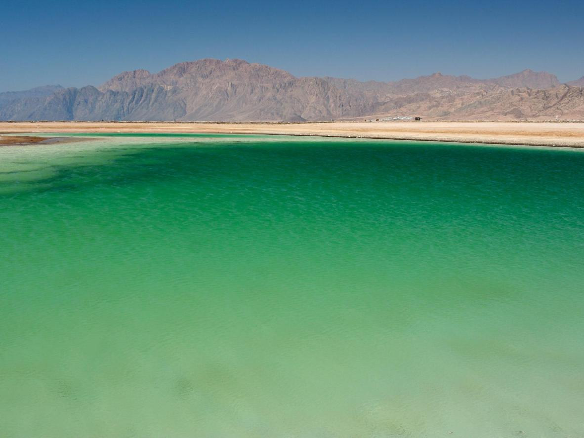 The green waters of Dahab
