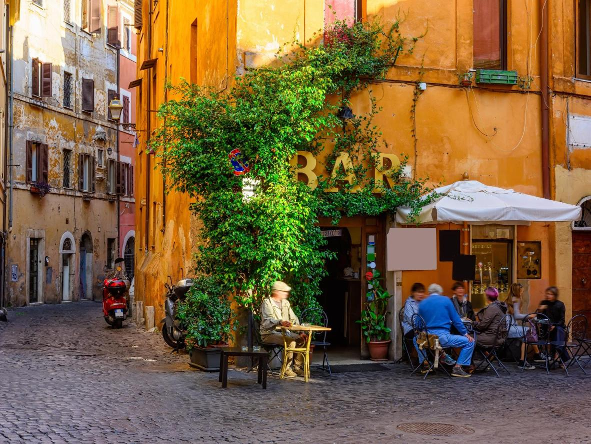 A cosy street in the Trastevere district