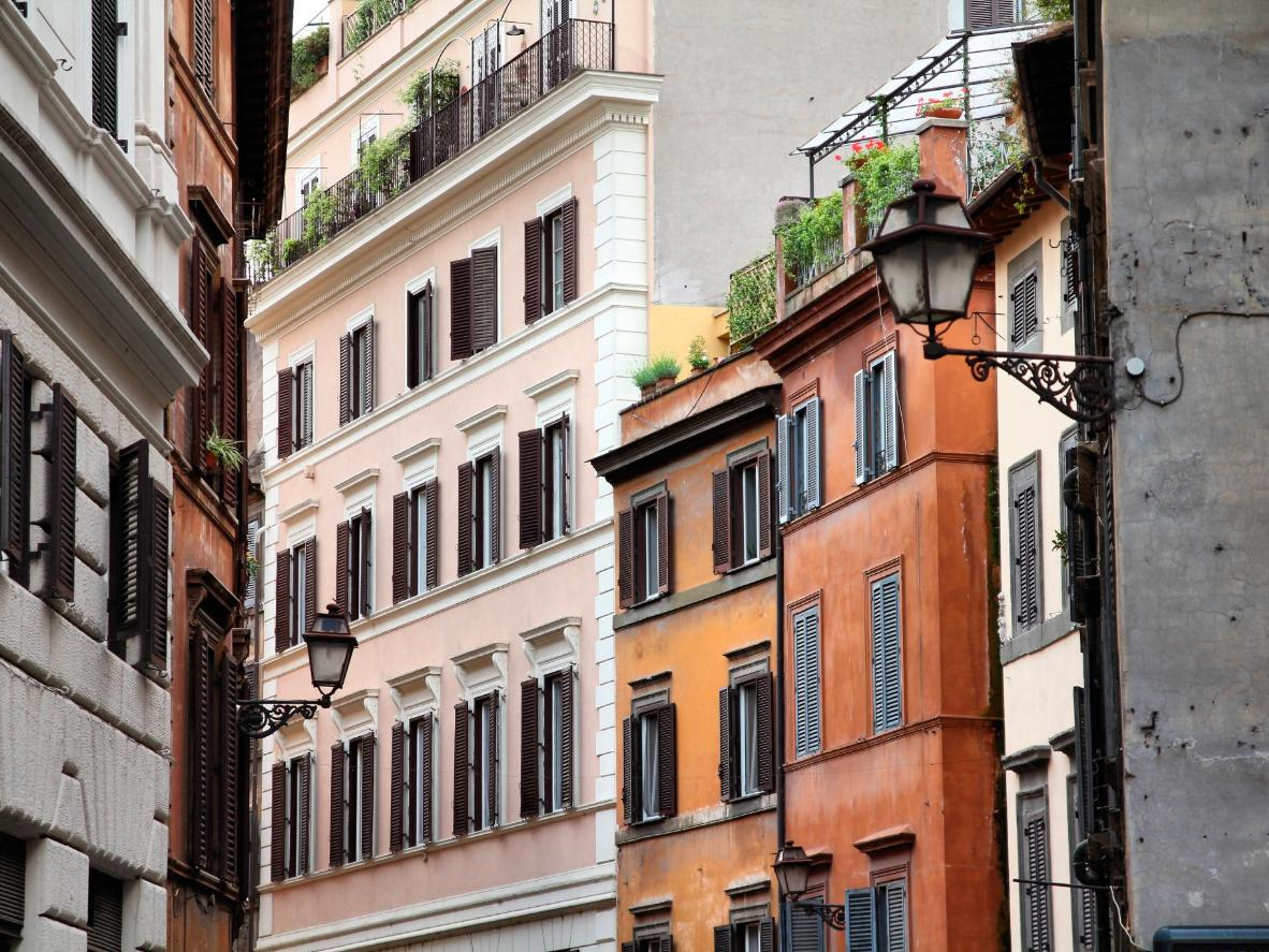 Rome's colourful Old Town