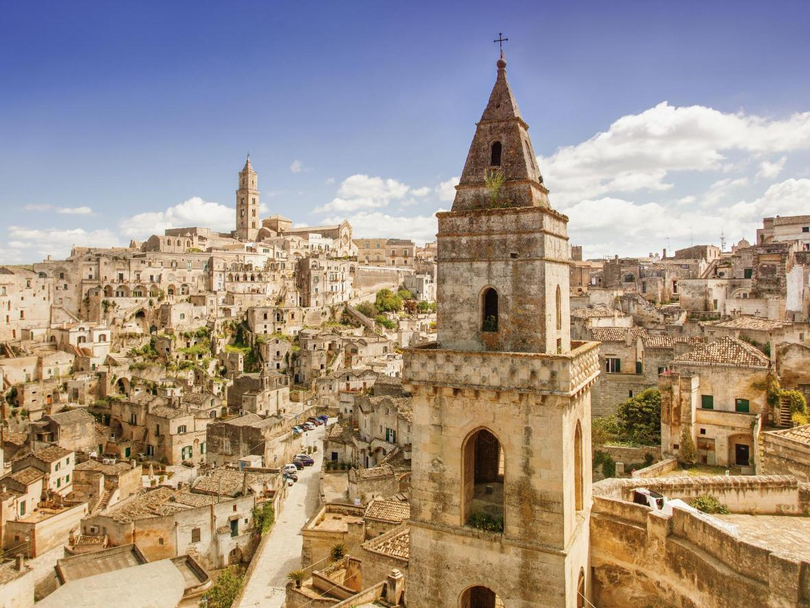The ancient Sassi district in Matera