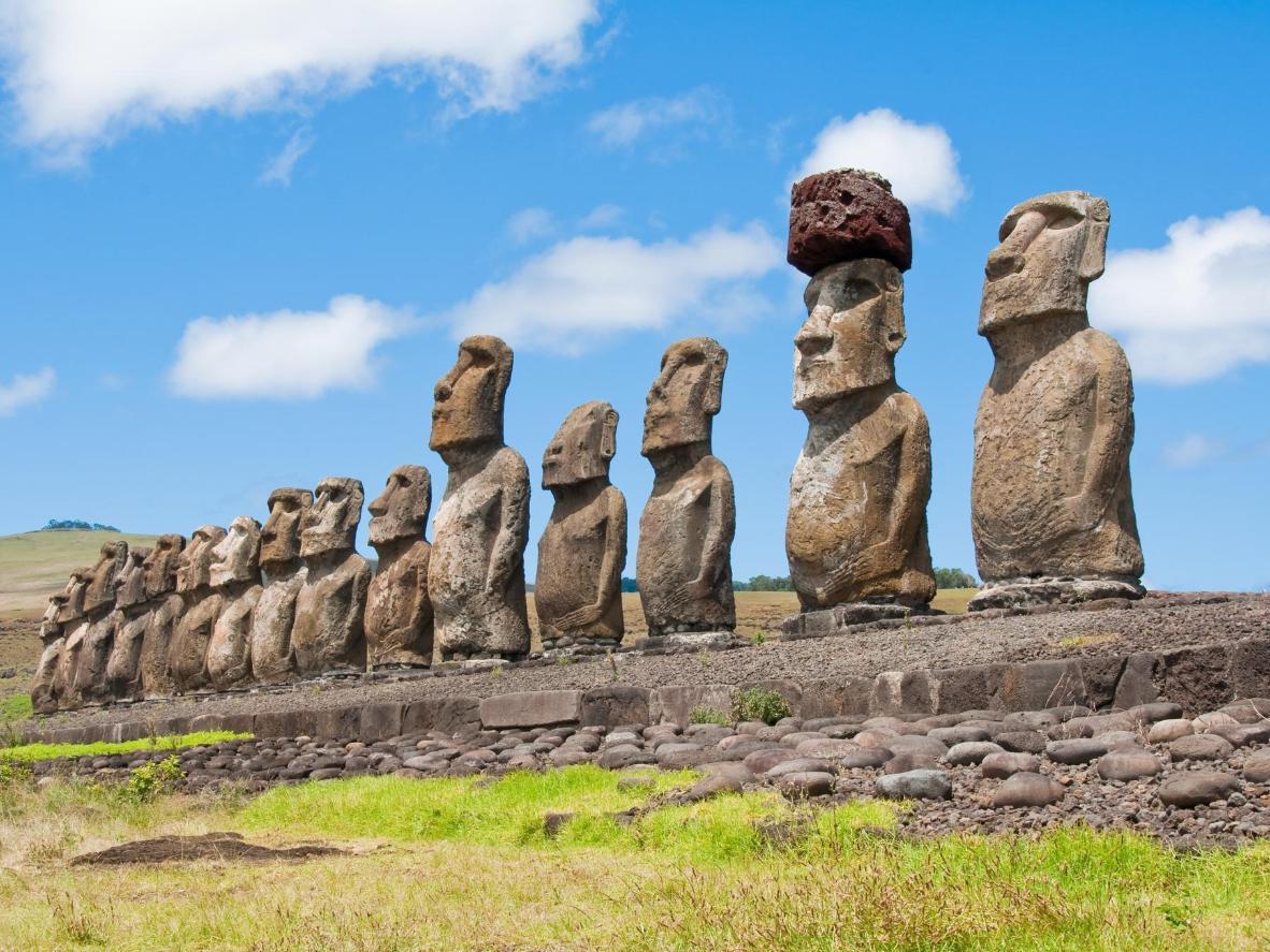 Easter Island's iconic Moai statues