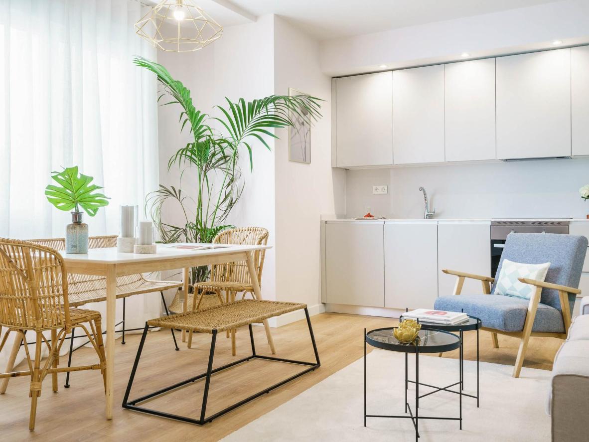 Reserve el apartamento superior de tres dormitorios para una cocina con una terraza en suite