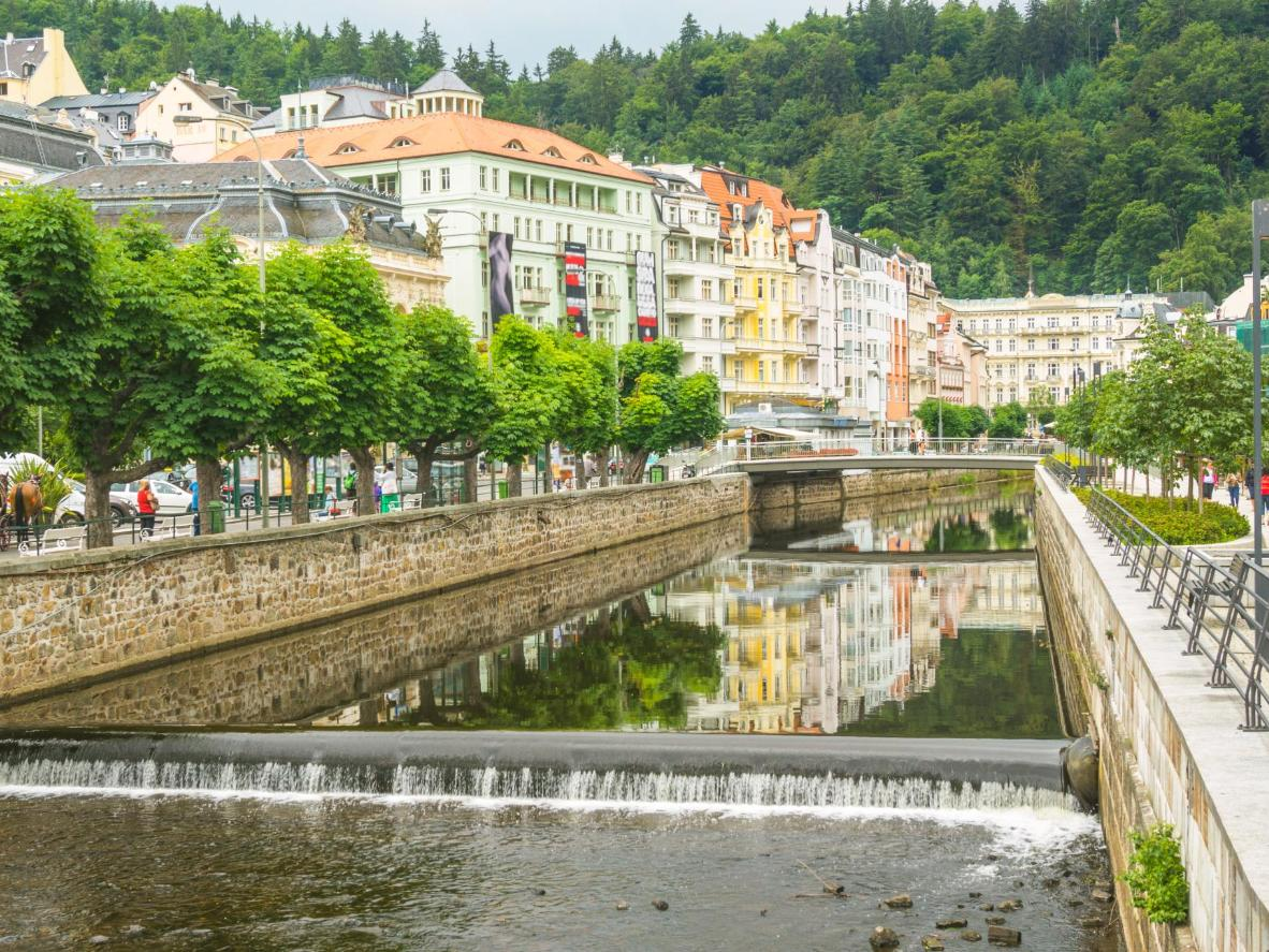 The Teplá River in Karlovy Vary