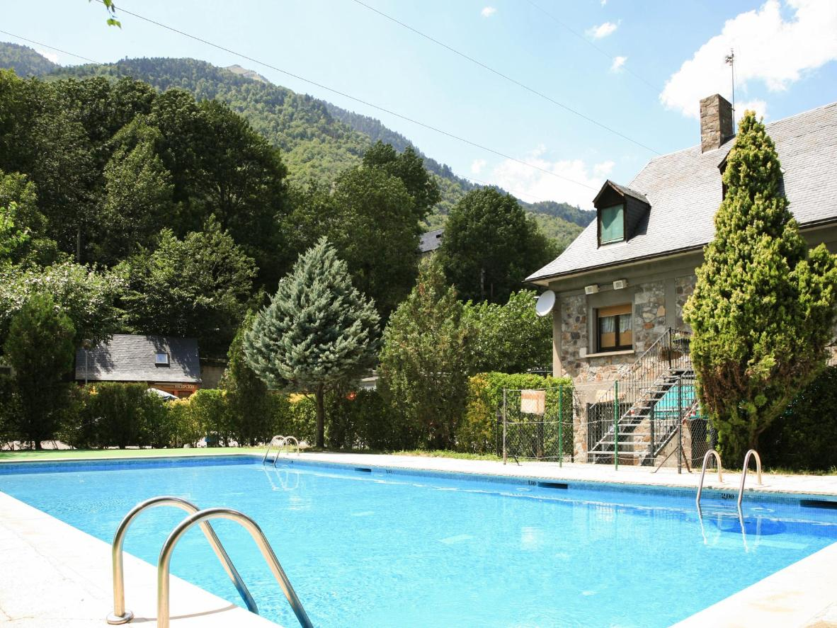 Cool off in this campgrounds swimming pool after a day hiking through the Catalonian mountains