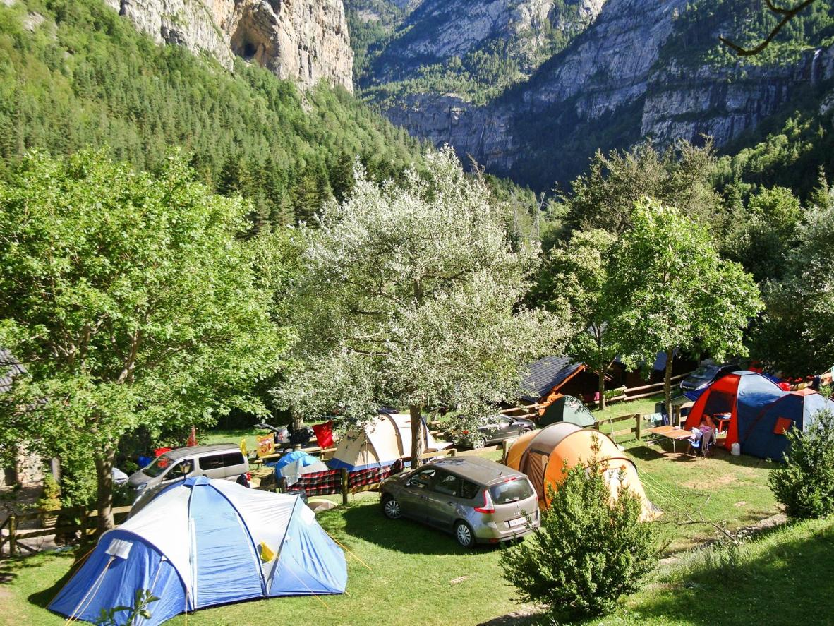 This campground is set in an otherworldly area of mountains, canyons, and waterfalls
