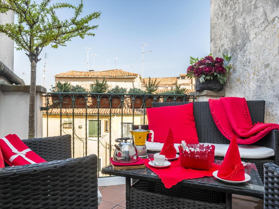 Unwind with a drink on your sheltered private terrace