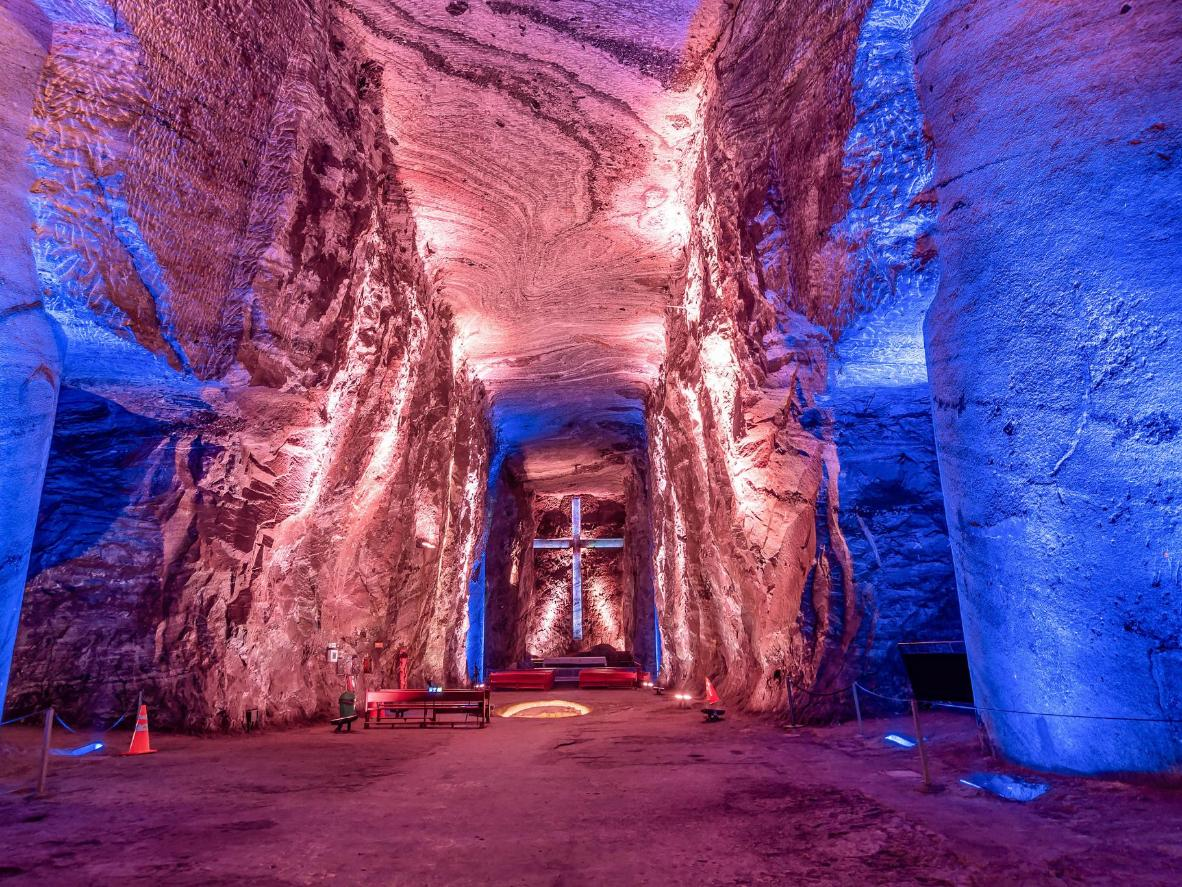 The Salt Cathedral of Zipaquirá in Zipaquirá