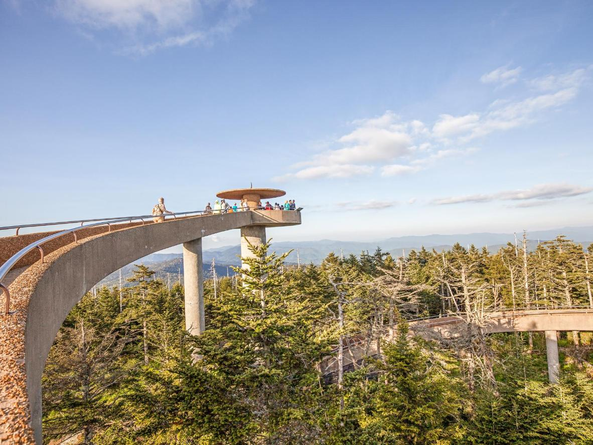 Der Clingmans Dome im Great-Smoky-Mountains-Nationalpark bei Pigeon Forge