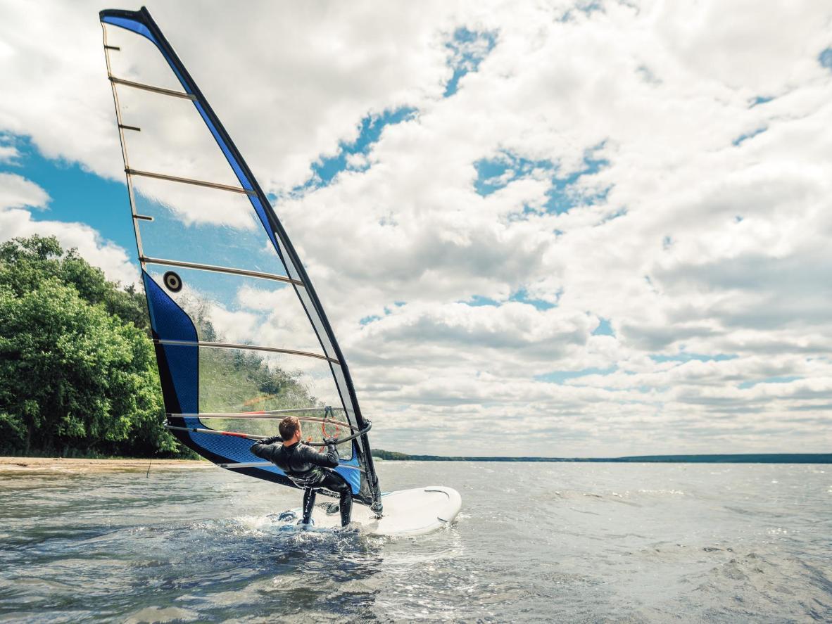 Go windsurfing on Lake Huron