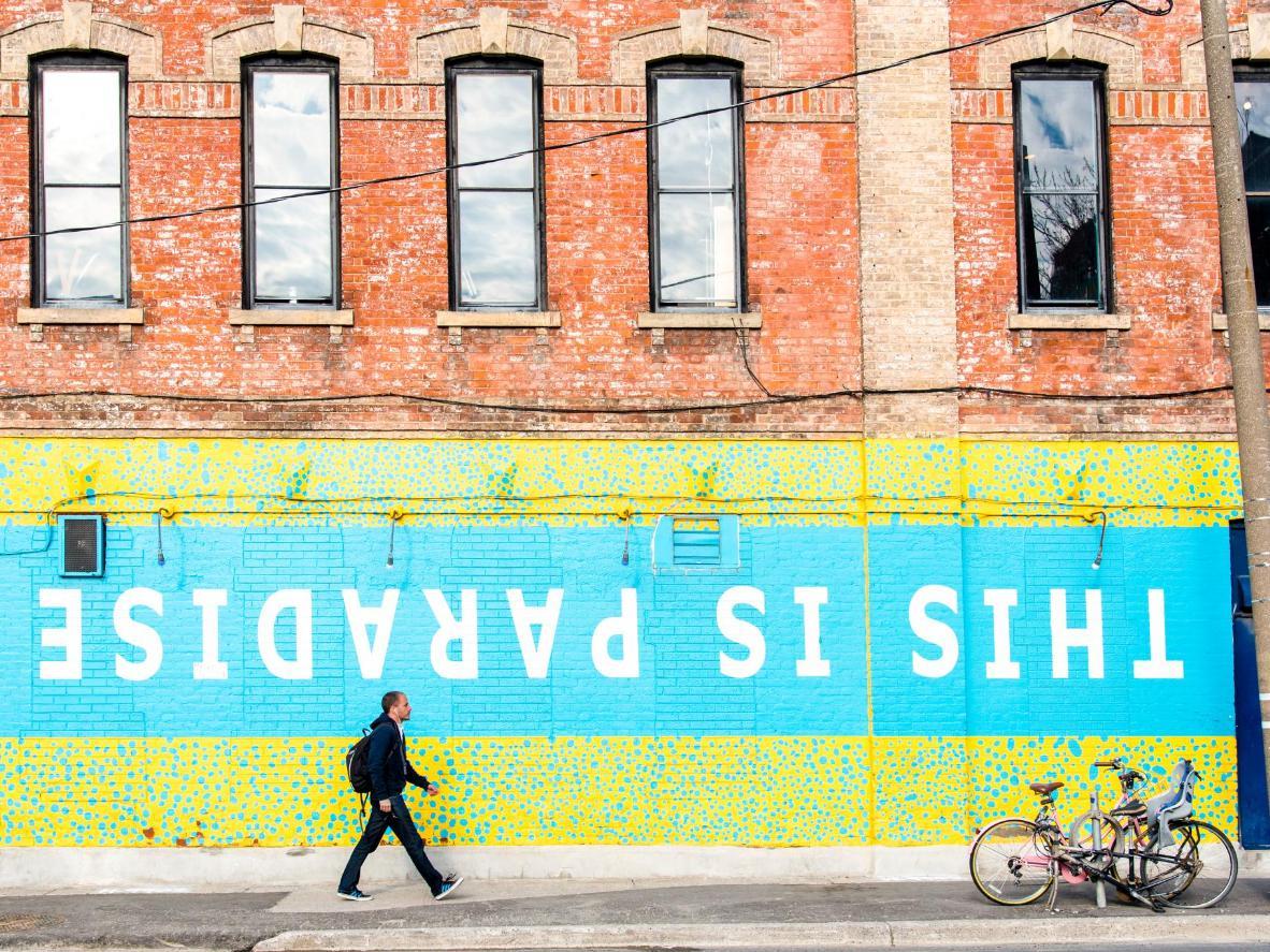 Street art at Toronto's Graffiti Alley