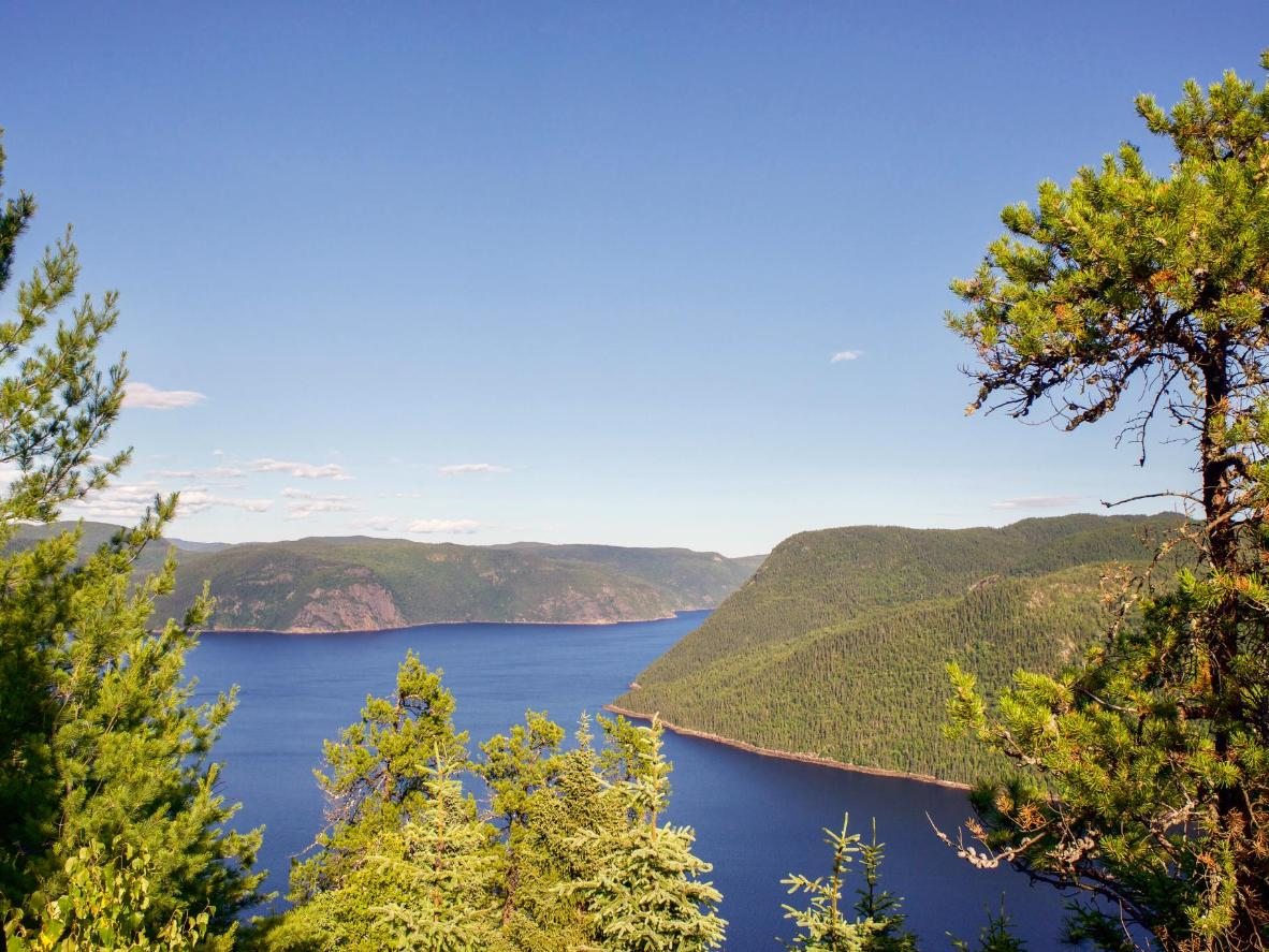Admire the 146 mile-long, glacier-cut Saguenay Fjord from the village of L'Anse-Saint-Jean