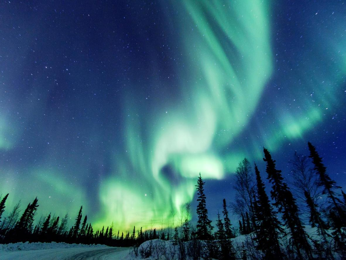 Gaze up at the resplendent northern lights in Yellowknife