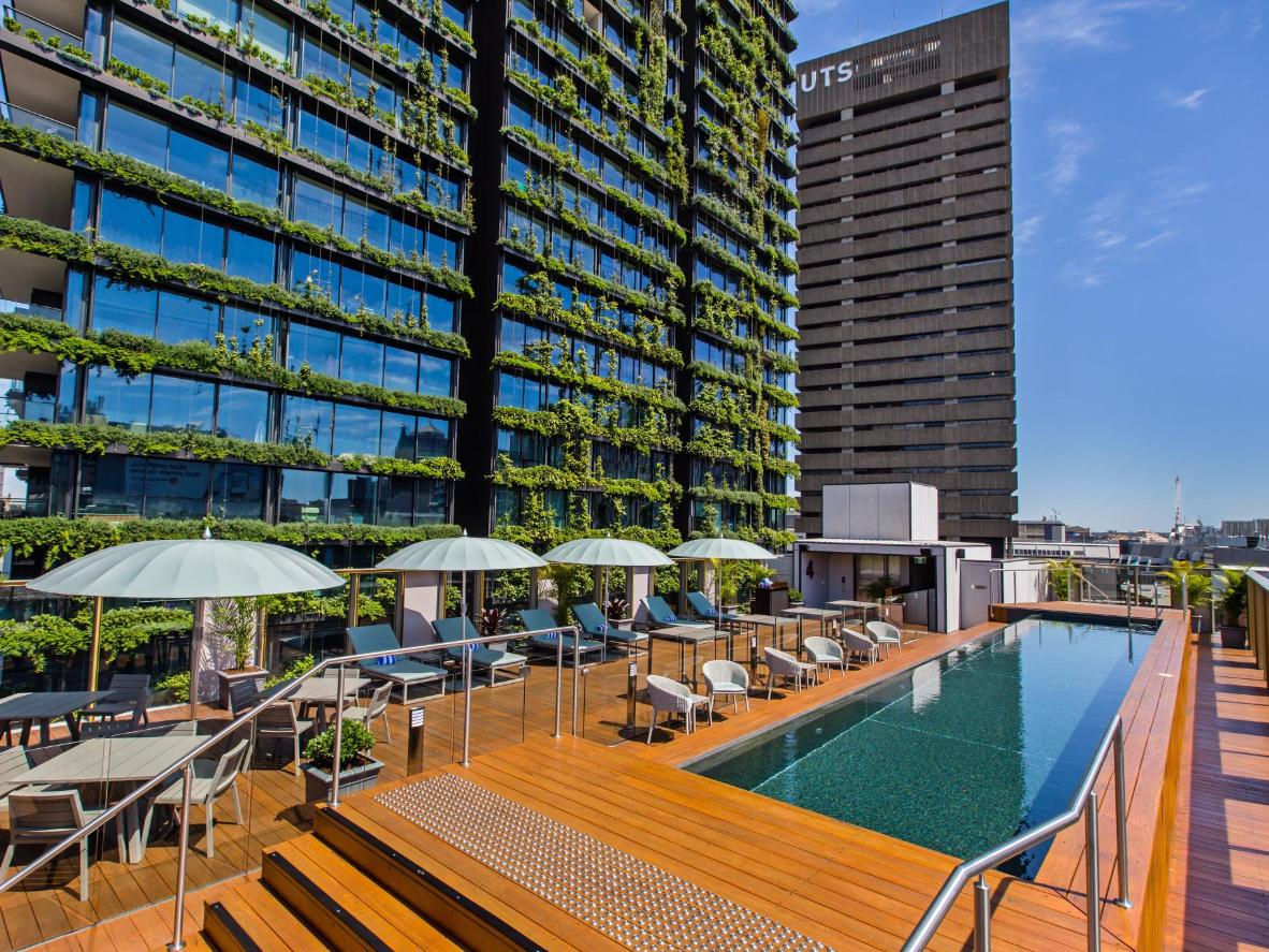 Enjoy sunrise yoga sessions, film screenings and live music by the pool of The Old Clare Hotel