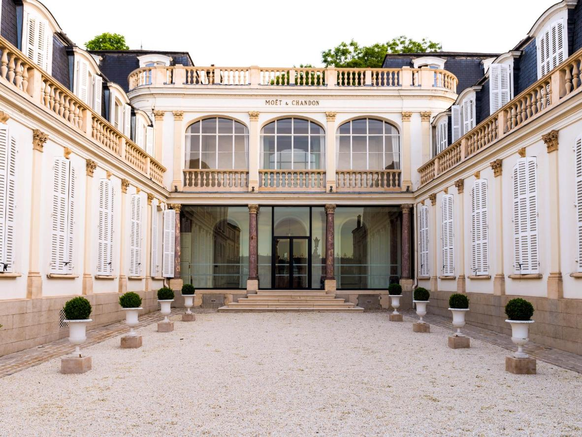 The Moët et Chandon Champagne House in Épernay