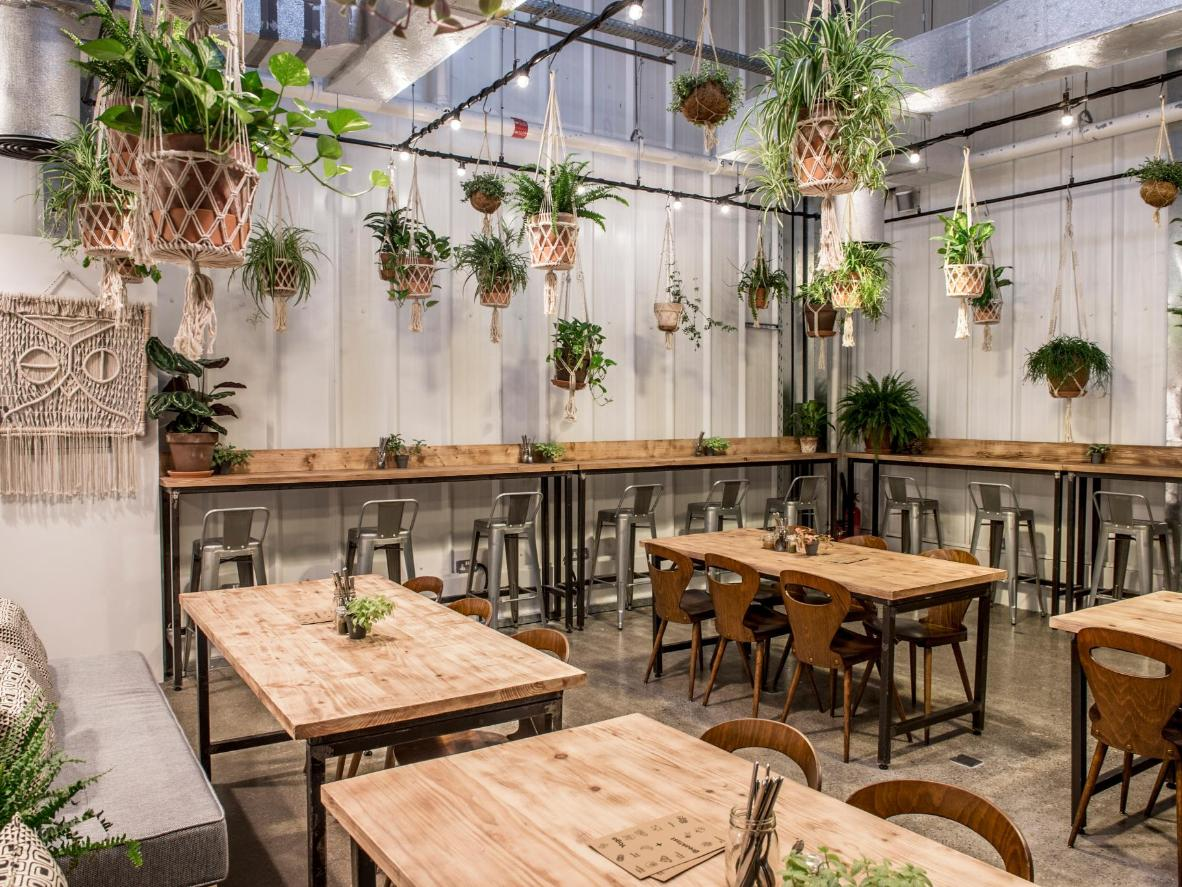 Visit vegetarian eateries like Wild & The Moon in Dubai