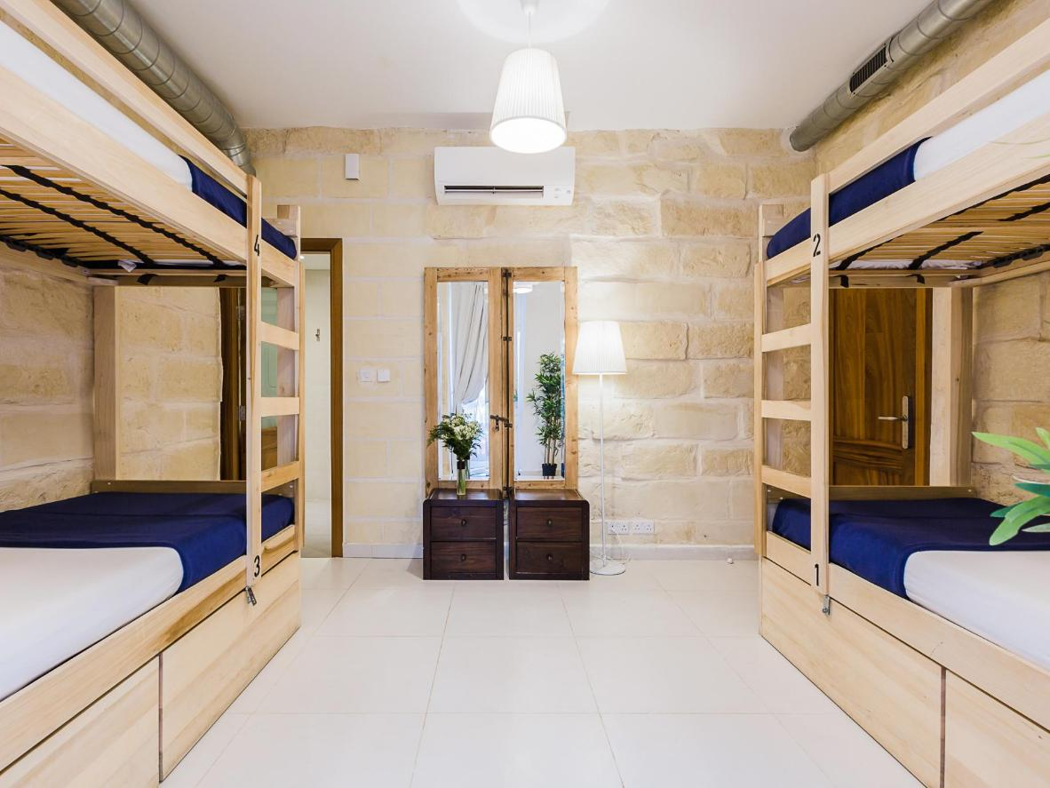 The stylish dorm room at Two Pillows Boutique Hostel