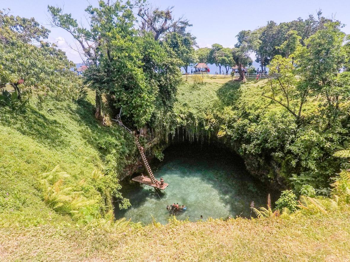 Découvrez To Sua, la fosse océanique de 30 mètres de profondeur de Lotofaga