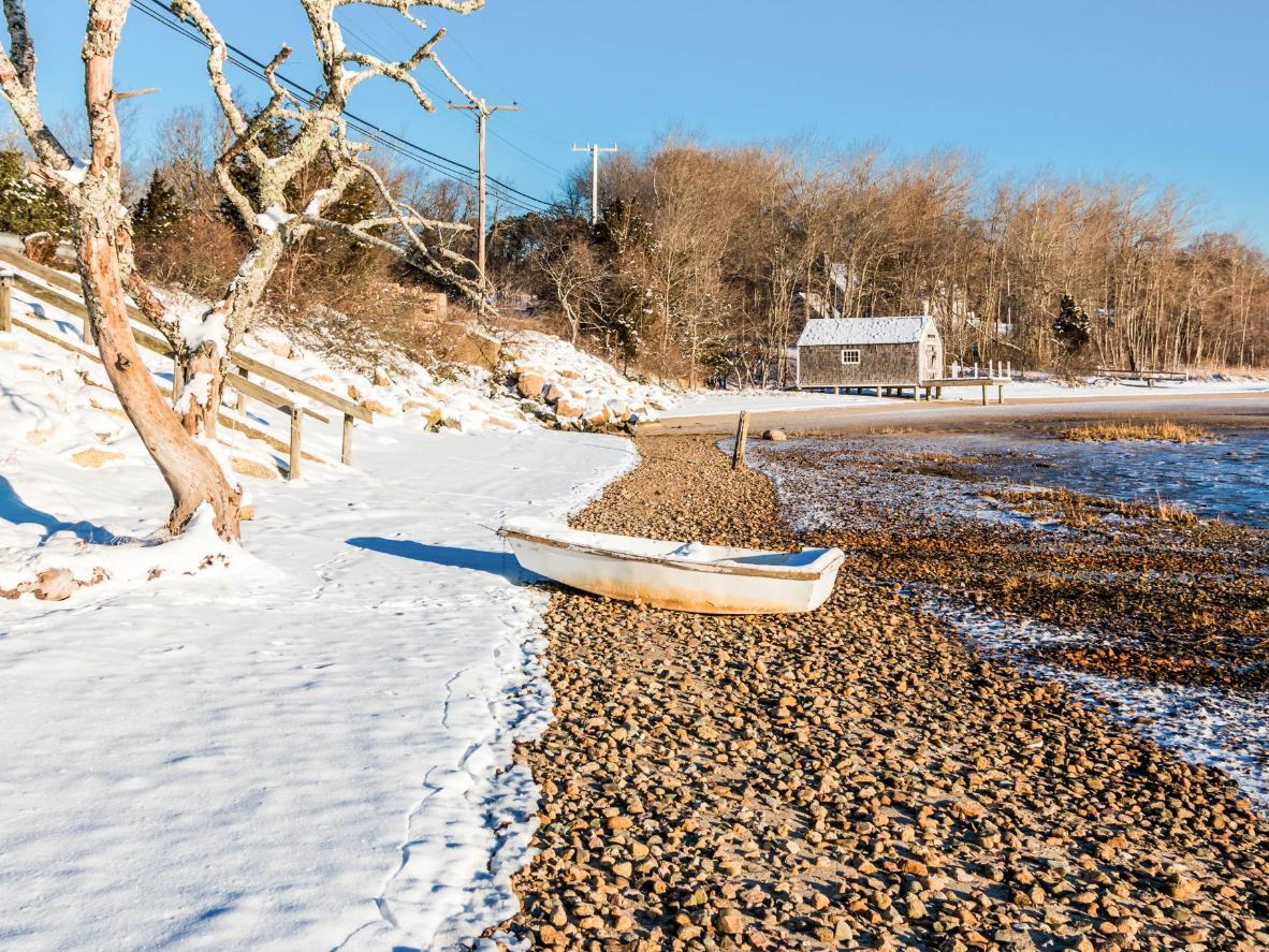 Winter transforms Nantucket from tourist hotspot to snowy paradise