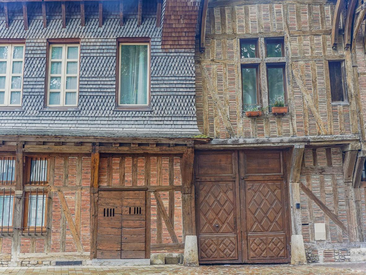 The intricate timber houses in Troyes