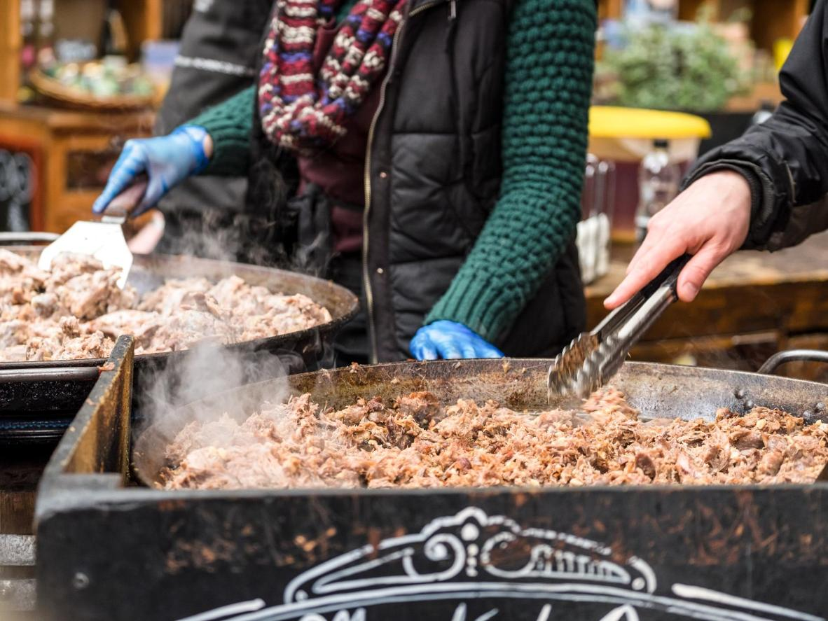 Head to a local market in Bordeaux for a range of duck-based dishes