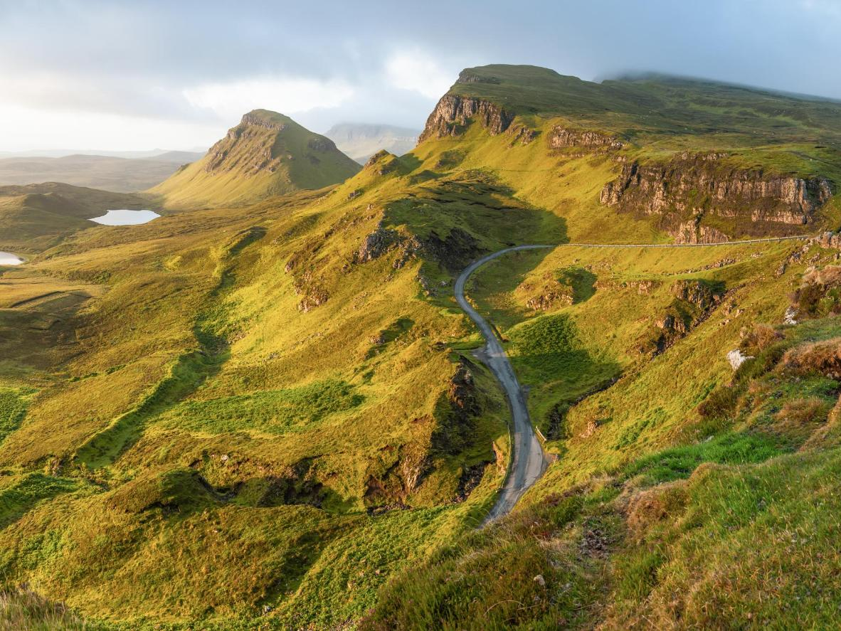 The village of Staffin is the starting point for the circular hiking trail that takes you through Skye's most stupendous scenery