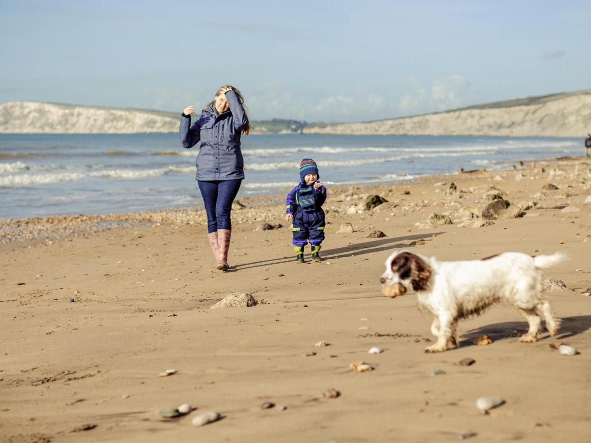 Make the most of your coastal location with a bracing walk along the beach