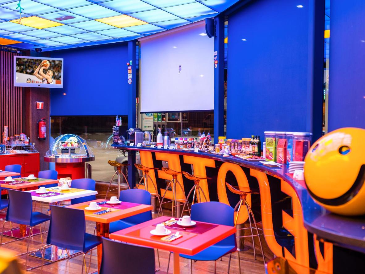 Resotel's fun, motorsports-themed décor is complemented by the friendly, personal service