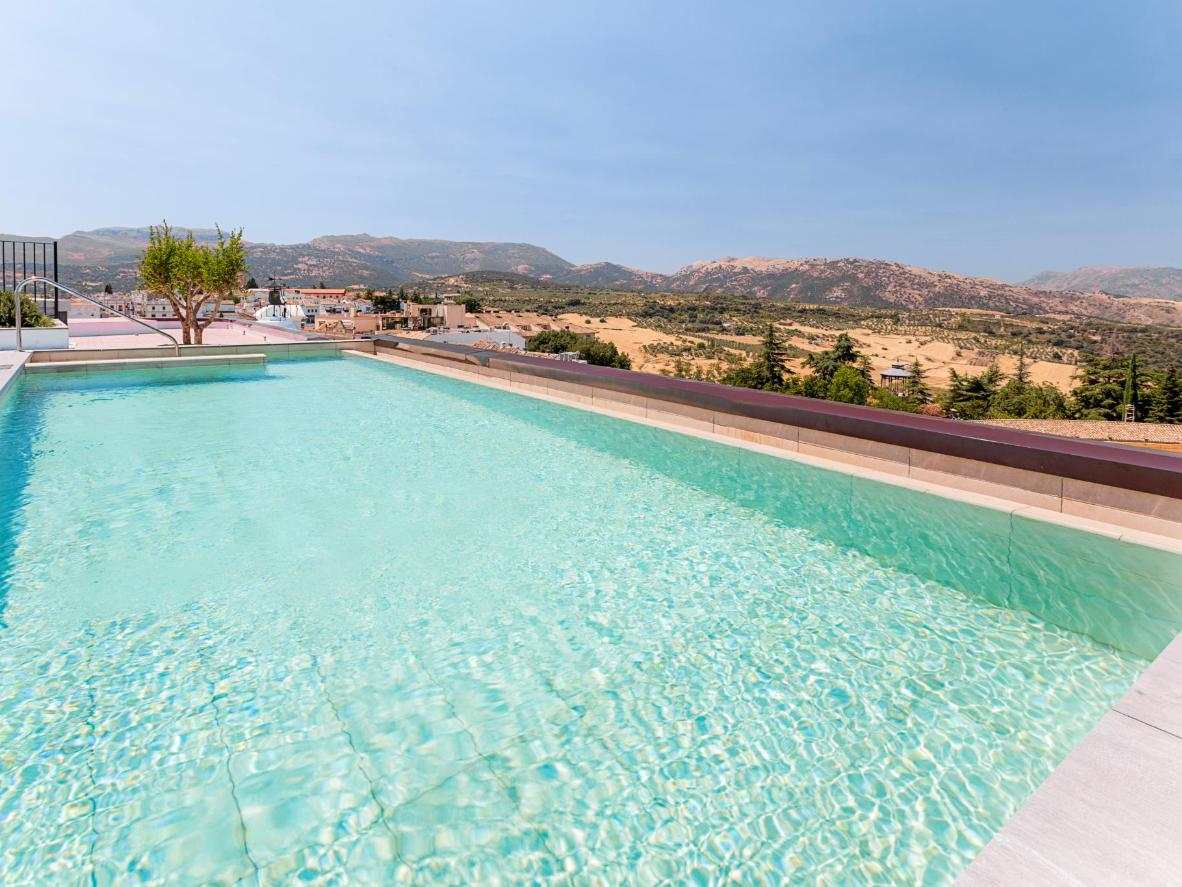Enjoy the sensational views from Catalonia Ronda's rooftop pool