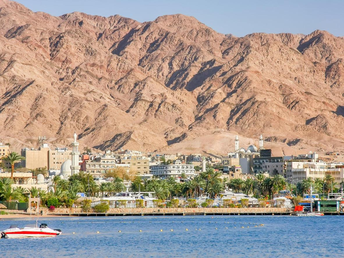 The area around Aqaba is a jagged, sandy world of its own