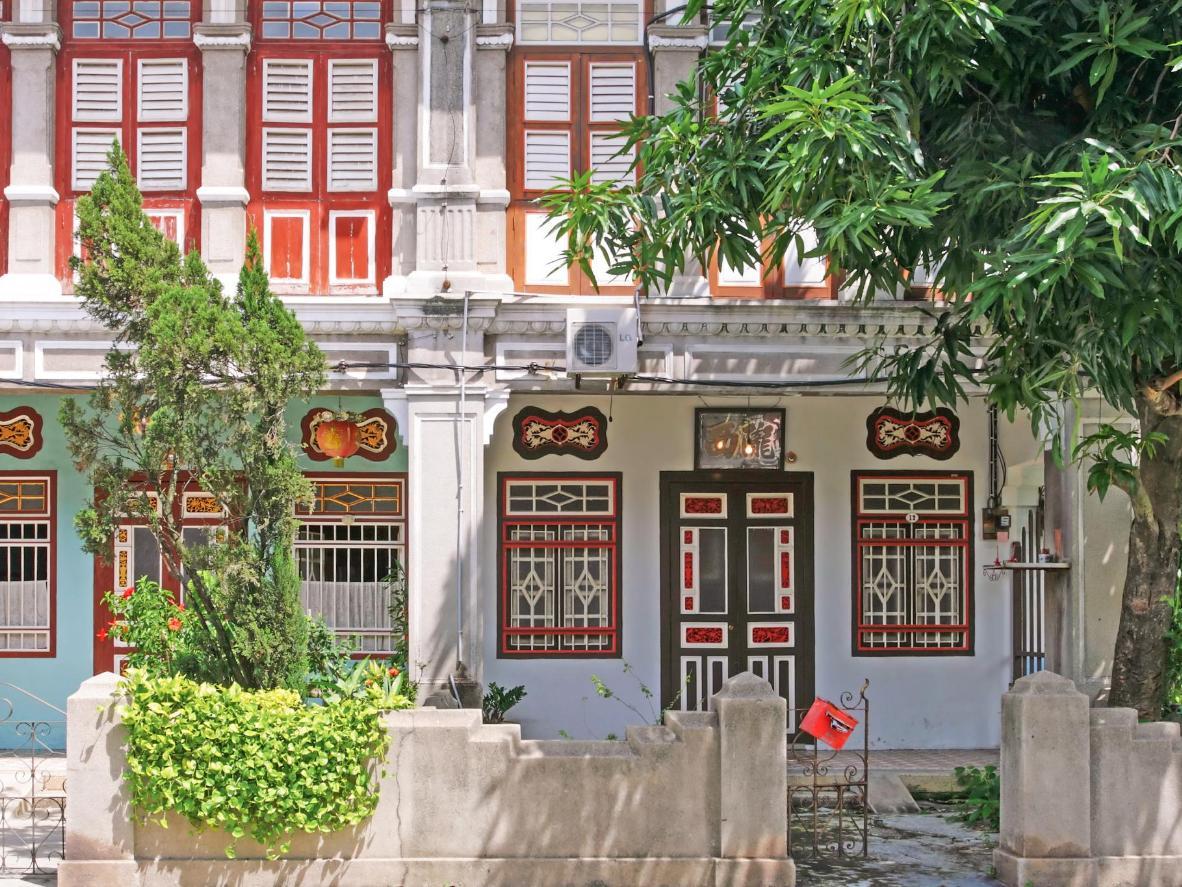 Zdobione domy Peranakan znajdziemy w całym George Town