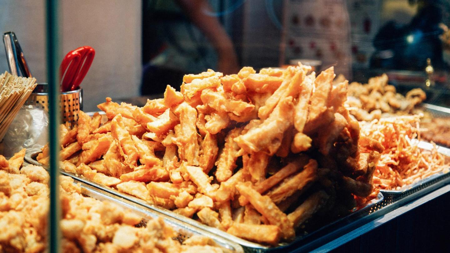 Deep-fried banana fritters are the perfect finish to a street food feast