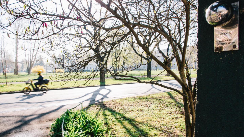Bike paths, parks and socialist architecture define the surroundings