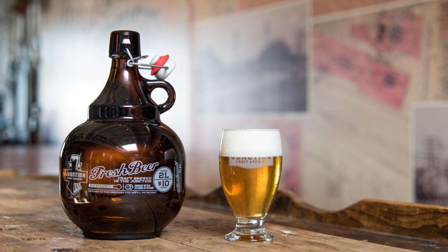 A 2-litre take-home growler, from Junction Craft Beers in West Toronto