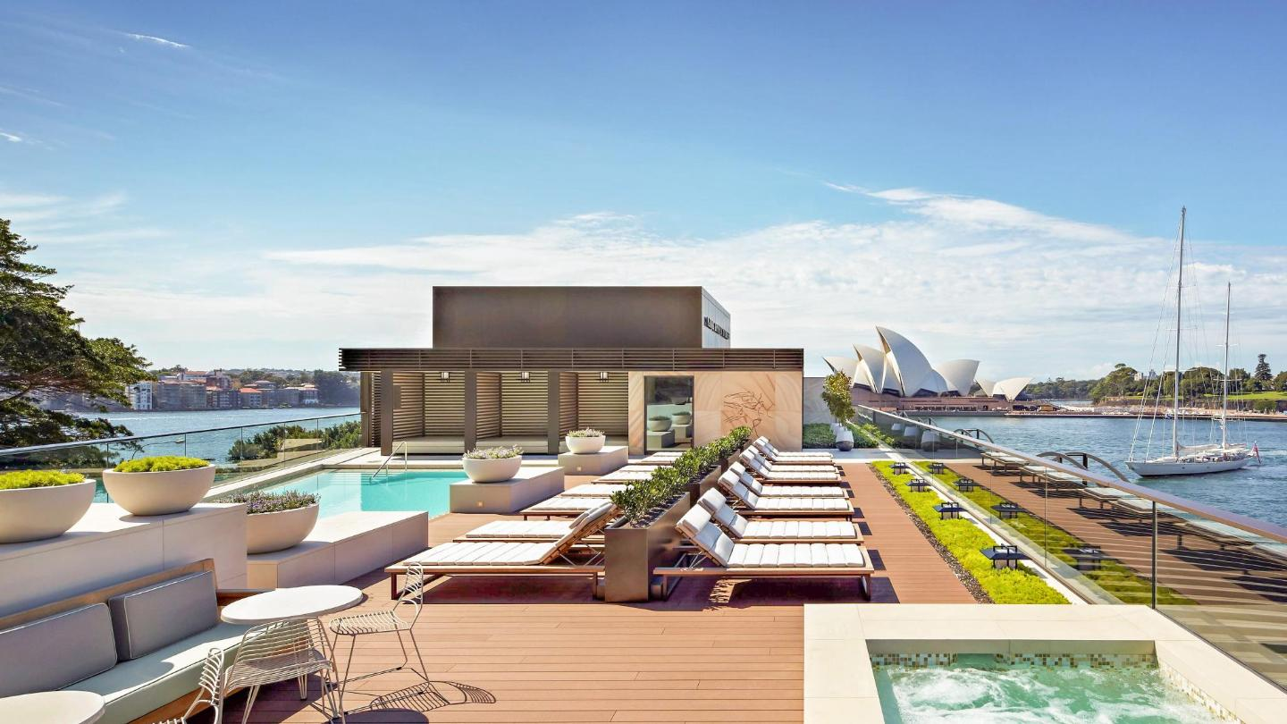 Don't miss the heated rooftop pool at Park Hyatt Sydney