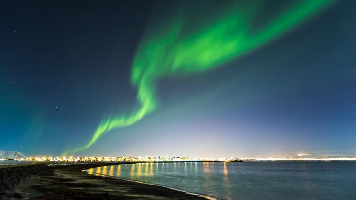 Encuentra el mejor lugar para las auroras boreales en Reikiavik
