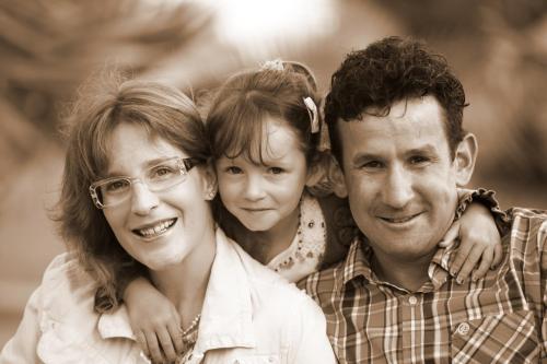 Caroline, Pia und Luigi Gstrein