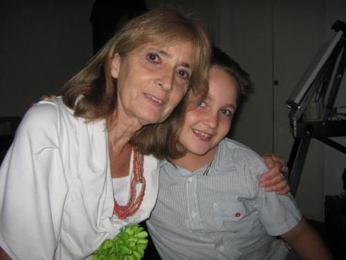 Ana Lia con uno de sus nietos