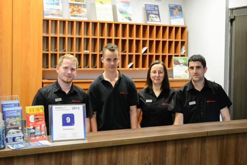 Our reception staff