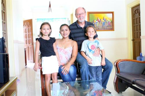 Jane and Peter Graverholt, with our kids Deborah and David