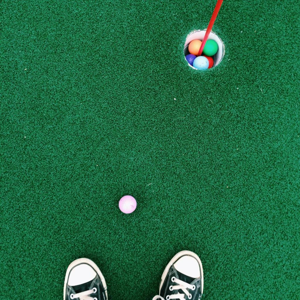 Mini-golf, followed by a cup of real coffee