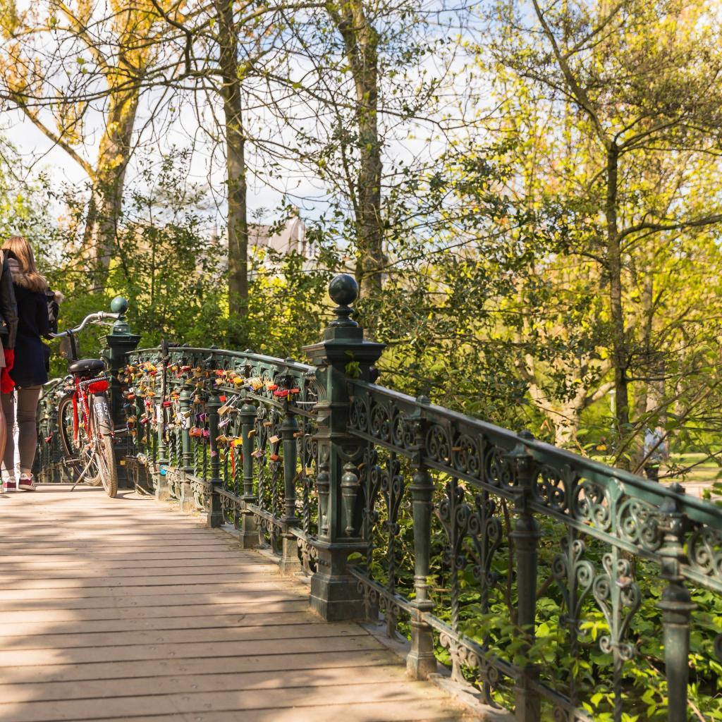 One of Vondelpark's picturesque footbridges