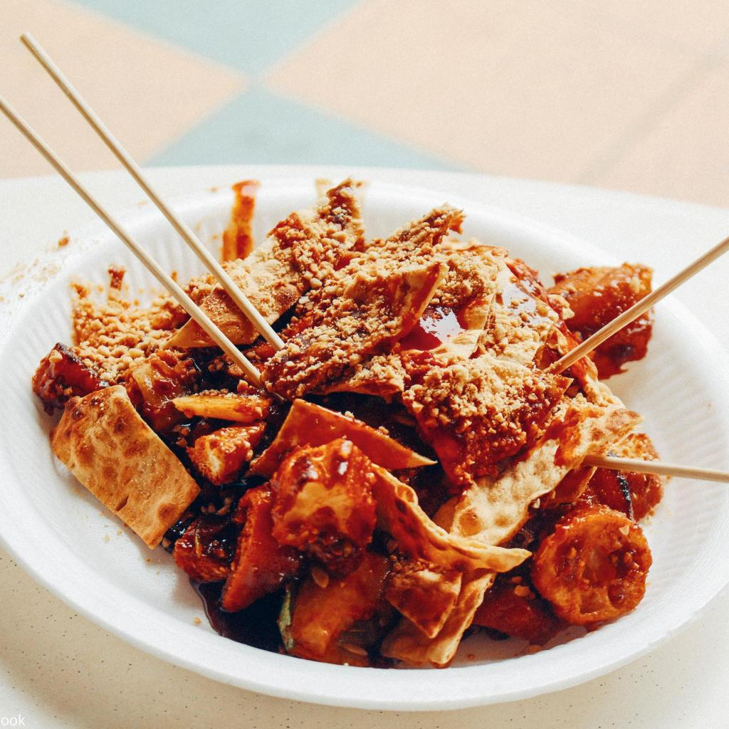 Rojak salad, an eclectic mix of tastes and textures