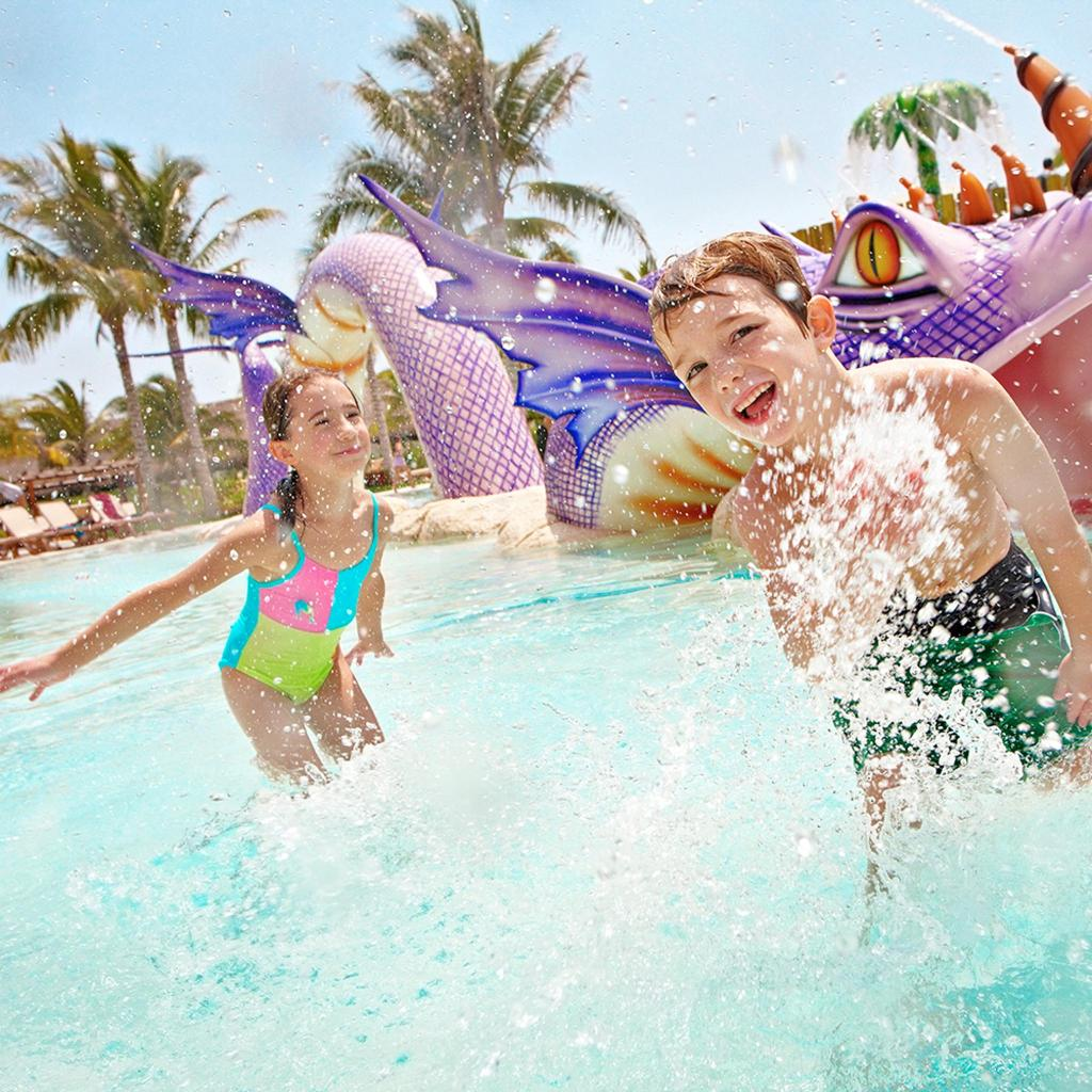 The child-friendly water activities are endless at Barcelo Maya Palace