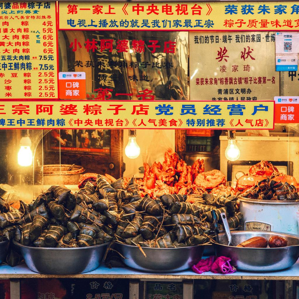 These stalls offer some of the best Zongzi in town