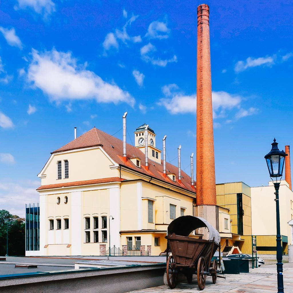 The Pilsner Urquell brewery, where the first pilsner lager was brewed
